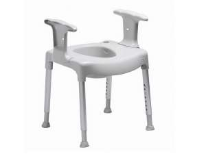 Toilettenstuhl SWIFT grau
